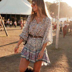 Dresses & Skirts - Boho Chic Gypsy Floral Print Dress